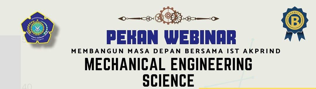 Webinar Teknik Mesin: Mechanical Engineering Science